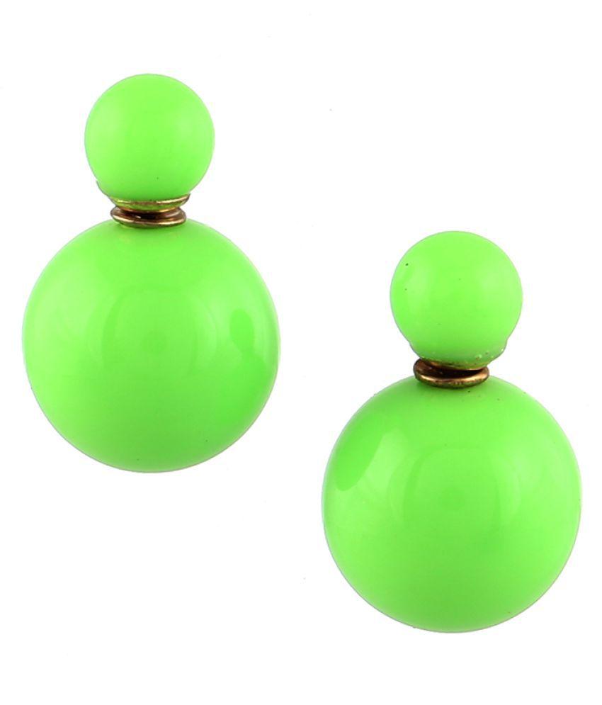 Zeneme Pearl Stud Earrings Jewellery for Women