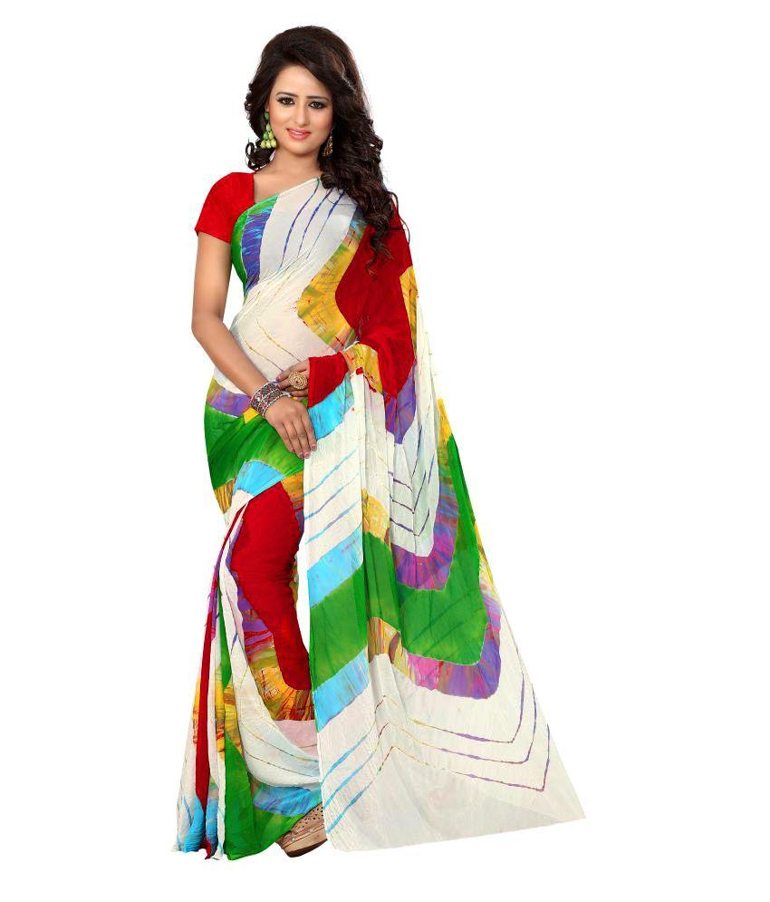 Fab Royal Multicoloured Chiffon Saree