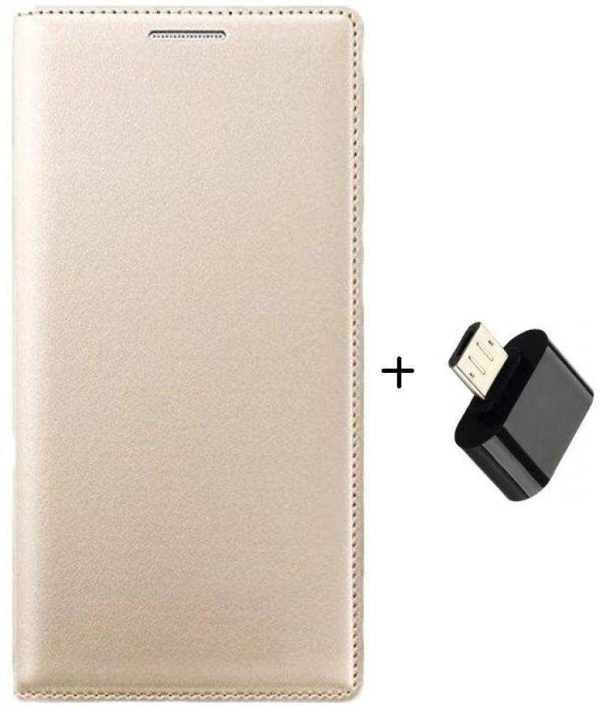 new product 7130c 208d2 Samsung Galaxy E7 Flip Cover by DRR - Golden