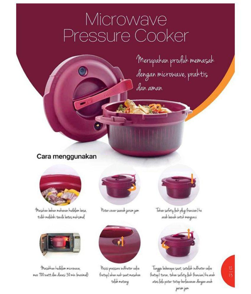 Tupperware Meroon Microoven Pressure Cooker Buy Online At
