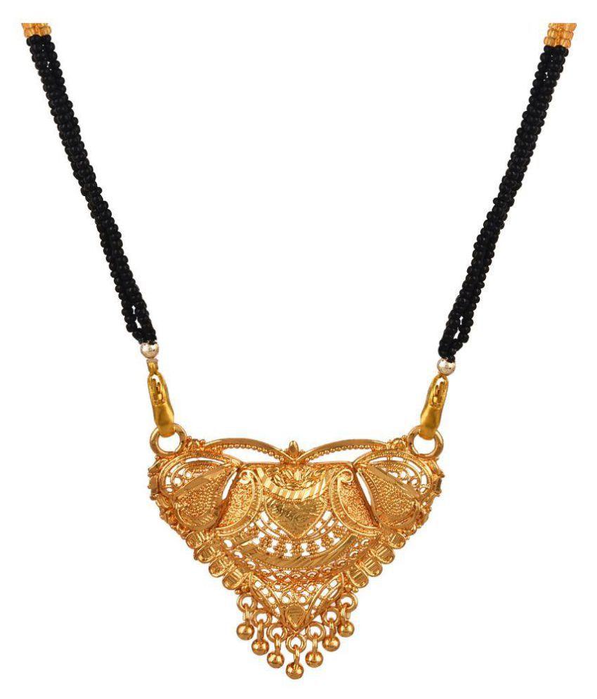 GoldNera Golden Alloy Mangalsutra Chain