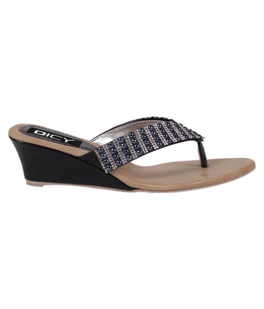 Dicy Multi Color Wedges Heels
