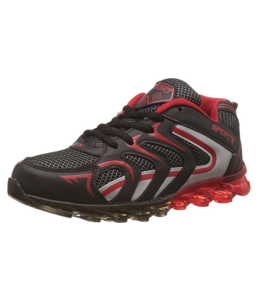 Steemo 1025 Black Running Shoes