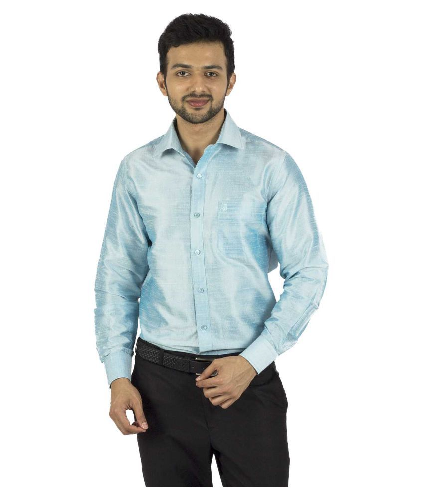 Khoday Williams Blue Formal Regular Fit Shirt