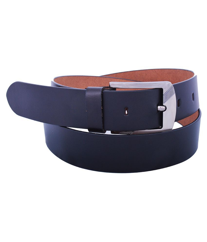 Dreamship Black Leather Formal Belts
