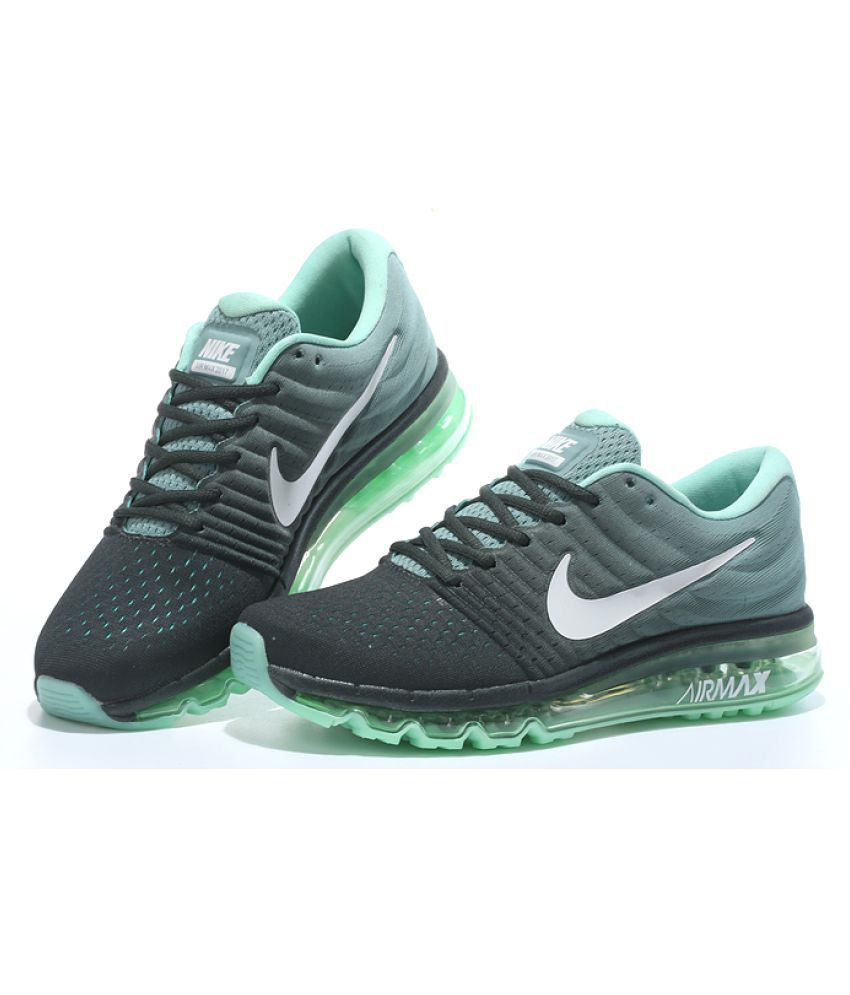 Nike Grey Green Running Shoes