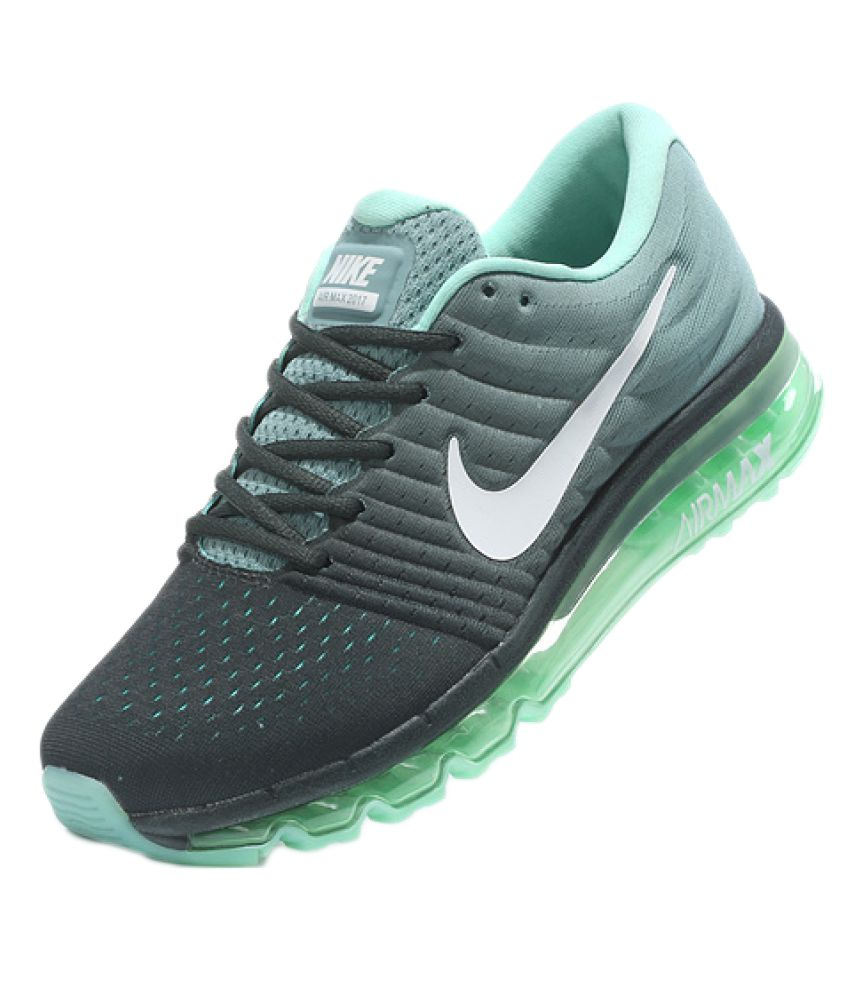 d897c8751ee Nike Air Airmax 2017 Green Running Shoes - Buy Nike Air Airmax 2017 Green  Running Shoes Online at Best Prices in India on Snapdeal