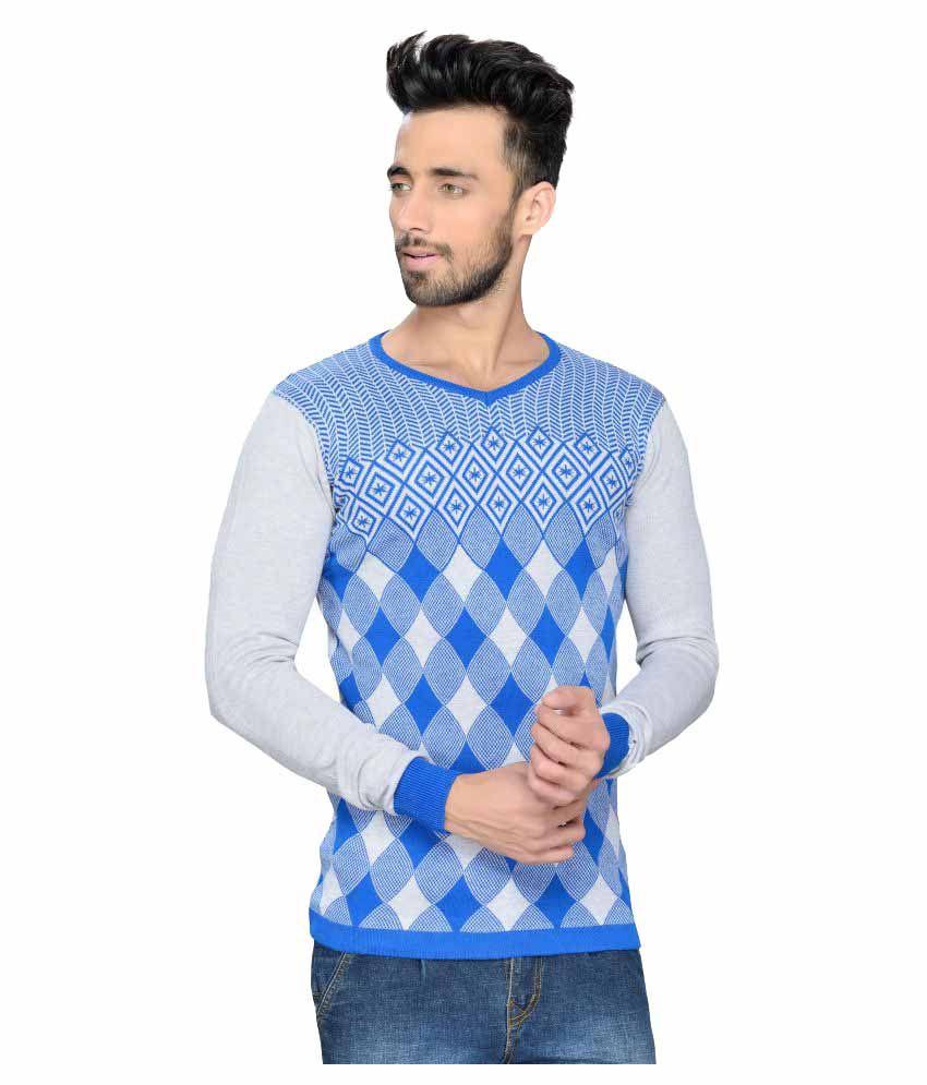 Rekha Fashion Hub Blue V-Neck T-Shirt