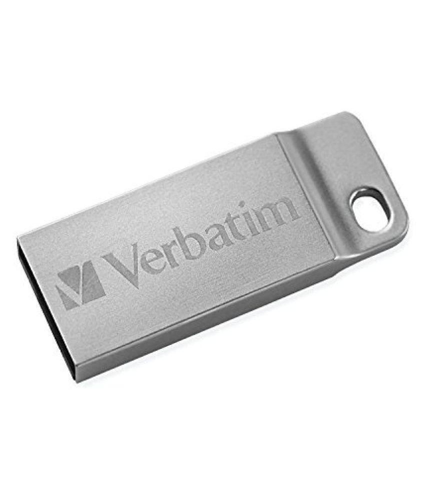 Verbatim 64 GB Metal Executive USB 2.0 Flash Drive, Silver 98750