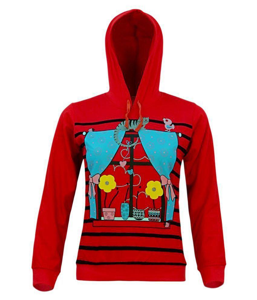 Kothari Red Fleece Sweatshirt