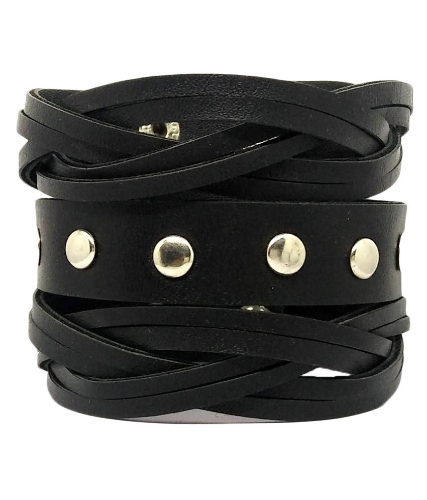 GoldNera Adjustable God Promise Leatherite  Leather Bracelet
