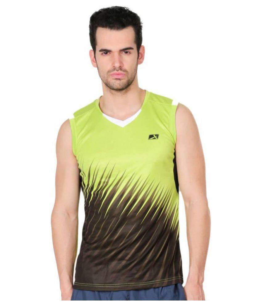 Vector X VTD-018-B Printed Men's V-neck Light Green T-Shirt