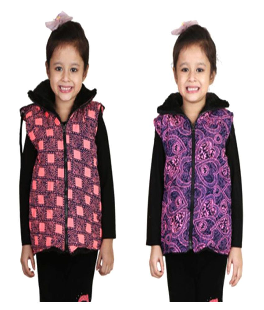 Crazeis Multicolour Nylon Light Weight Jacket - Pack of 2