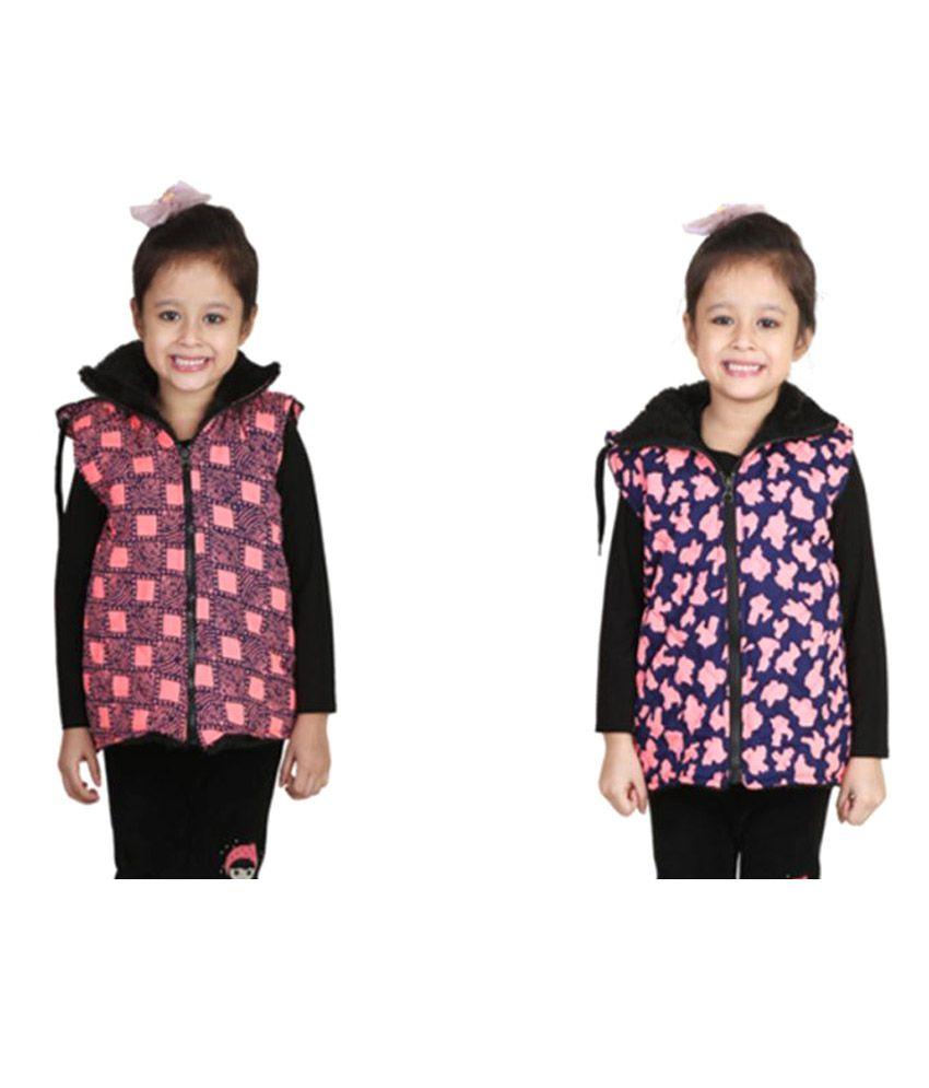 Crazeis Combo of Half Jacket For Girl's