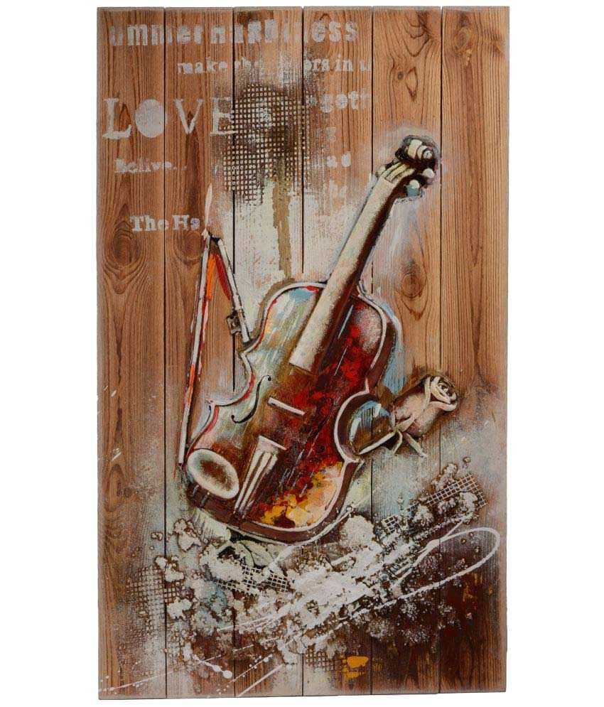 Giftadia Wood Painting With Frame Single Piece