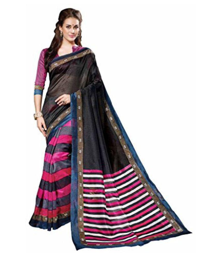 Vipul Black Art Silk Saree