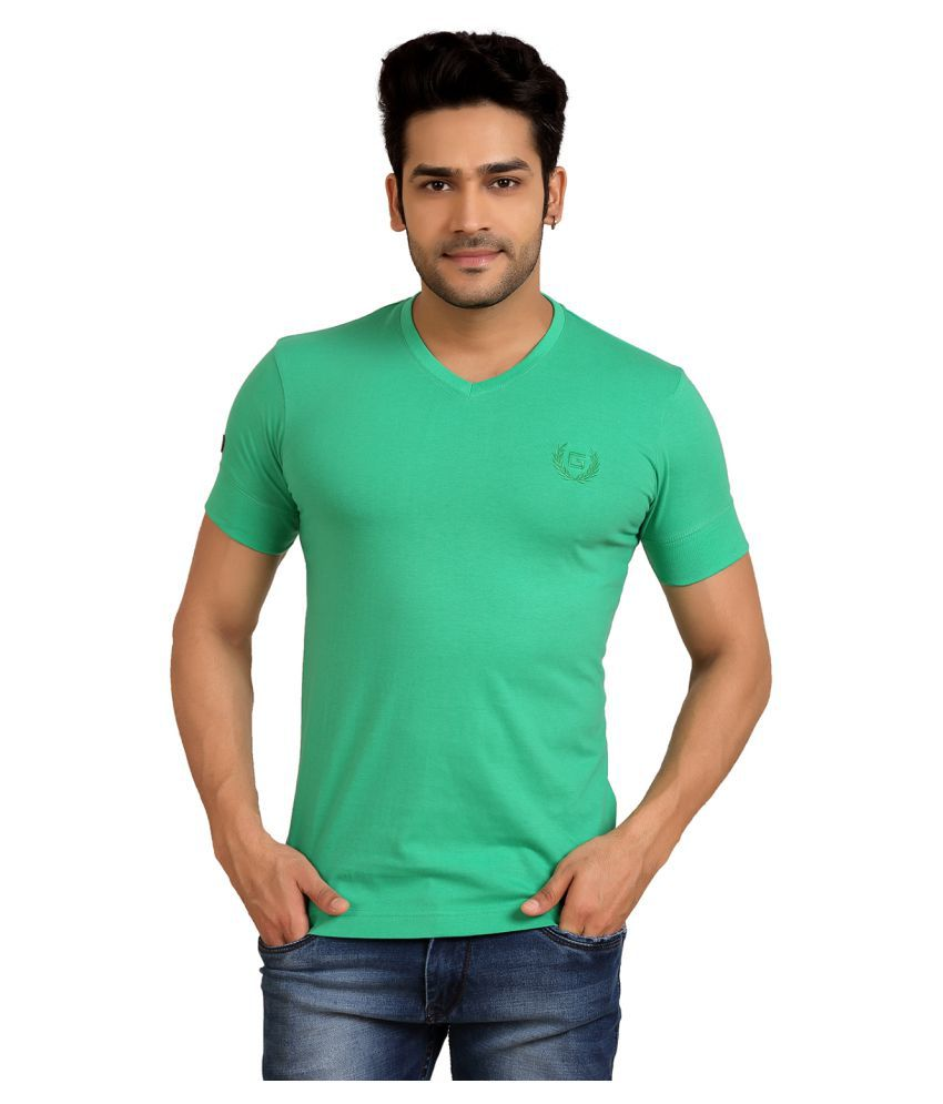 Goplay Green V-Neck T-Shirt