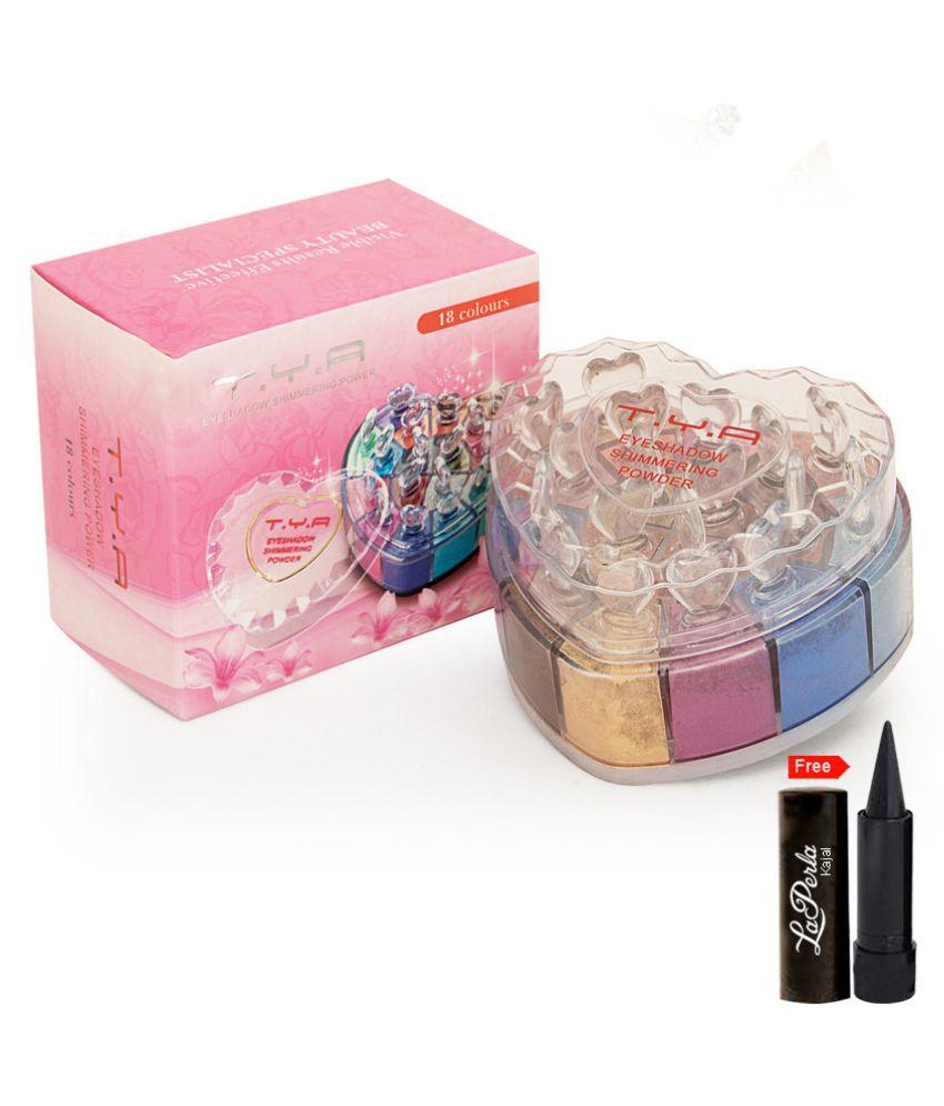 TYA 18 Color Eyeshadow Shimmering Powder Eye Shadow Loose Powder 18 Shade  Colours 24 gm