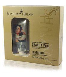 Shahnaz Husain Shalife Plus Skin Nourishing Program, 60g Free Shasmooth Almond Eye Cream Eye Mask 10 Gm