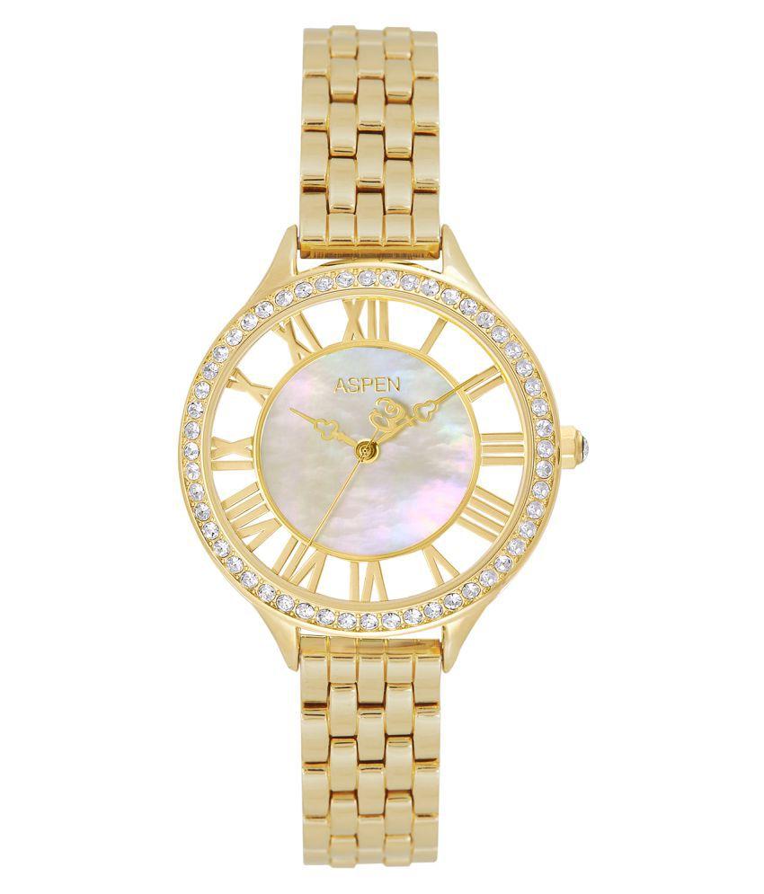 Aspen Feminine Exclusive AP2020 Ladies Gold Analog Watch