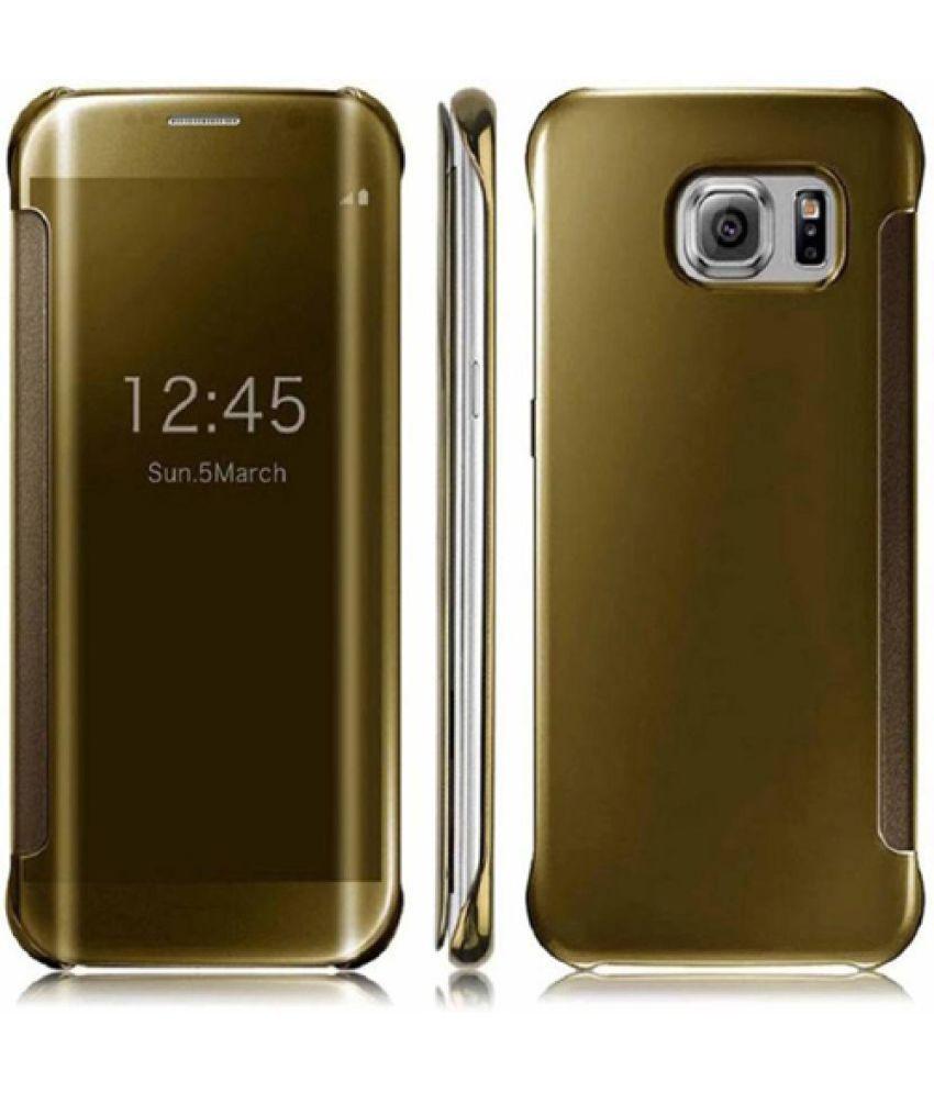 newest 60096 fd9a6 Samsung Galaxy A9 Pro Flip Cover by NXG4U - Golden