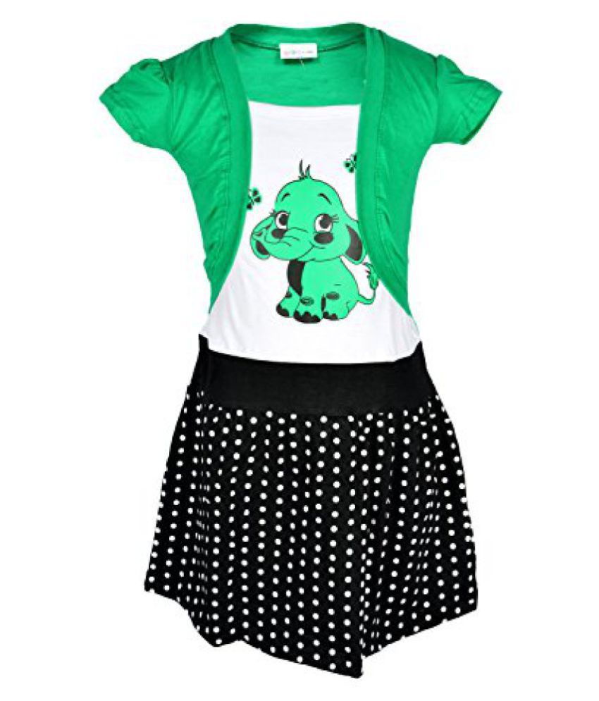 Lil Orchids Floral Printed Girls Casual Dress