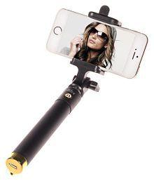 Ashu Aux Wire Selfie Stick - Black