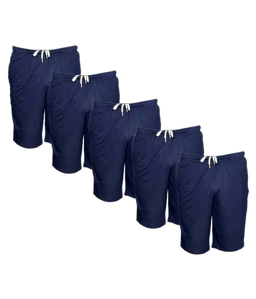 Indiweaves Blue Shorts Pack of 5