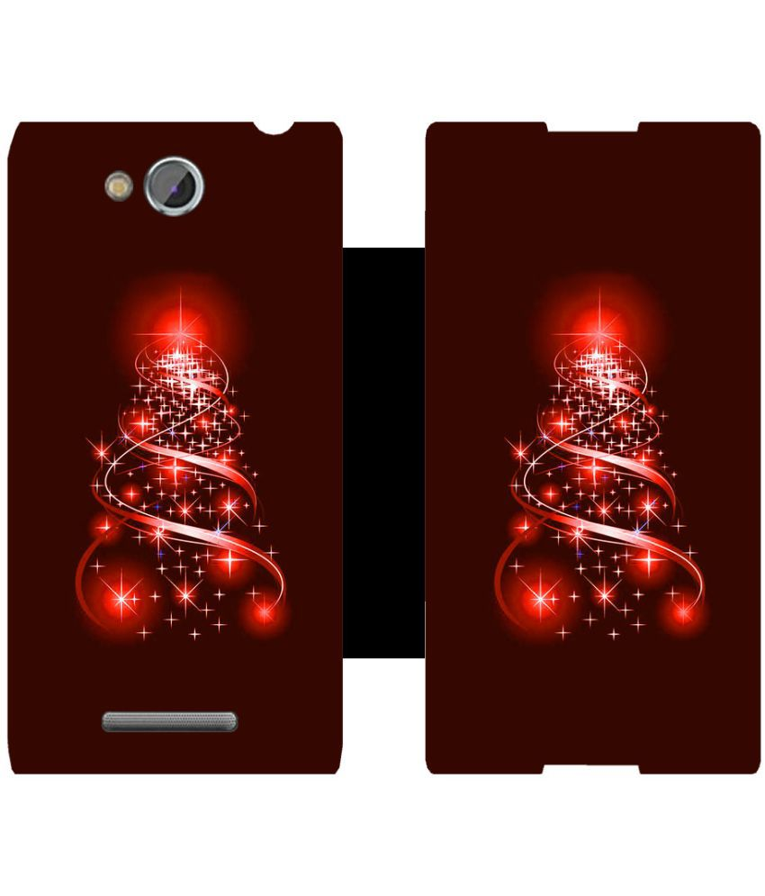 Sony Xperia C Flip Cover by Skintice - Red