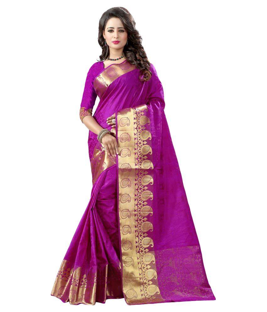 Fashion Storey Pink Banarasi Silk Saree
