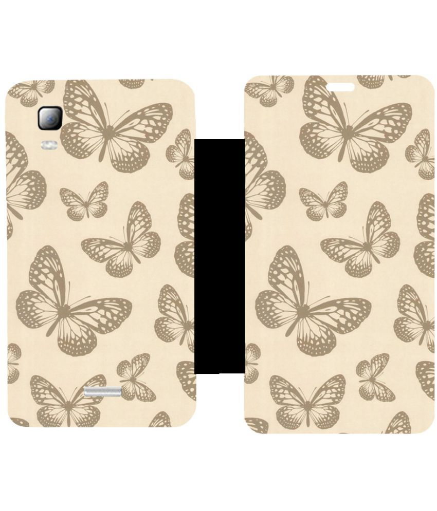 Micromax Canvas Doodle 3 A102 Flip Cover by Skintice - White