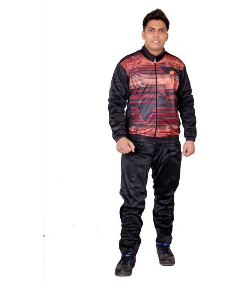 Vector X Black and Red Tracksuit