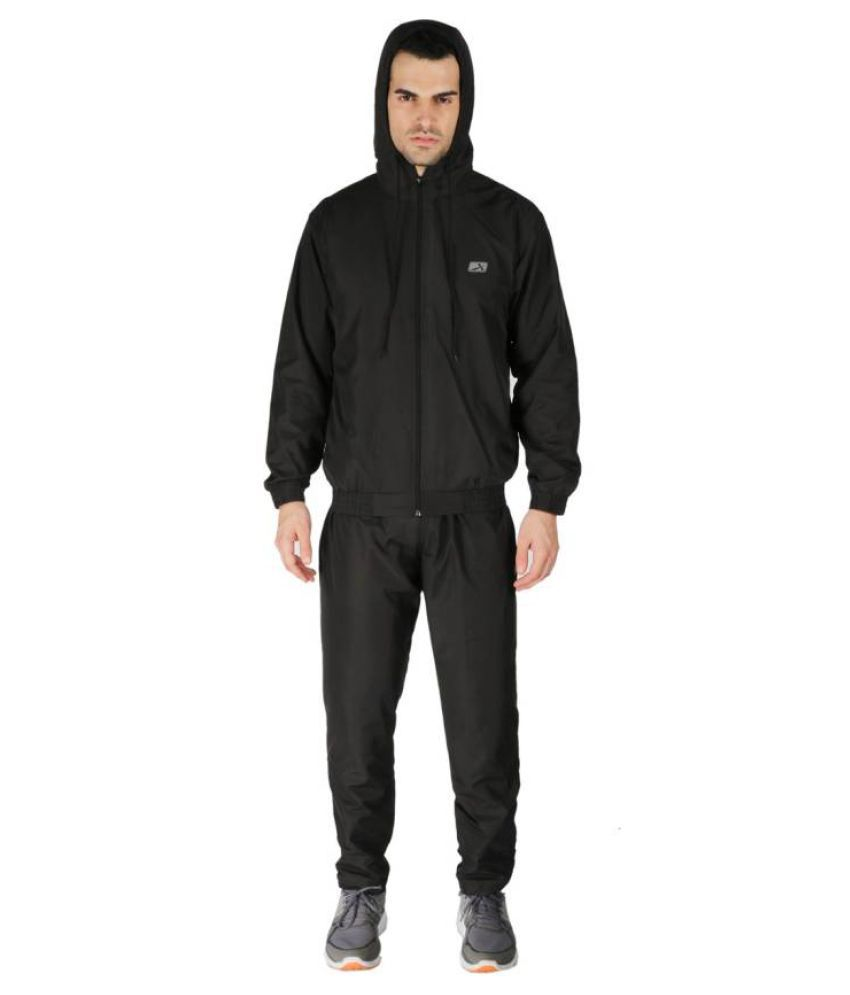 Vector X VTS-150-B Black Solid Men's Track Suit
