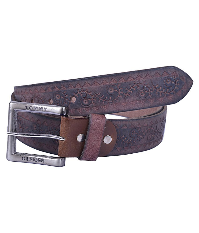Dreamship Brown Leather Party Belts