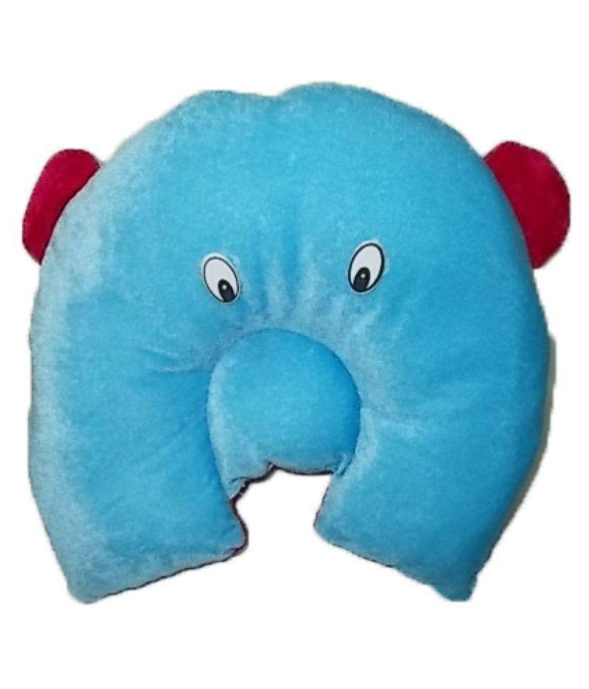 Chhote Saheb Blue Cotton U shape Baby Pillow Baby Pillow