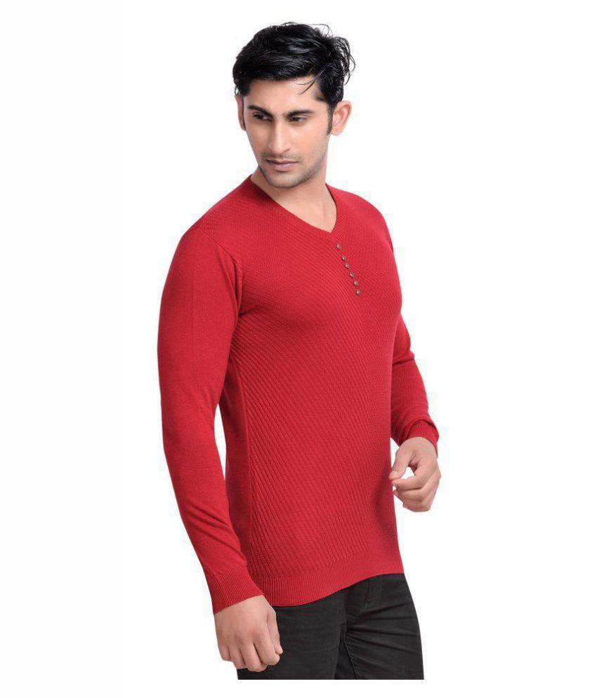 Urbanique Red V-Neck T-Shirt