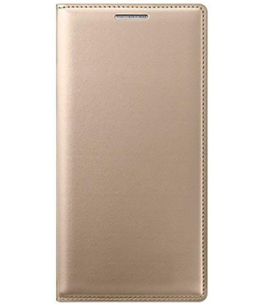 Xiaomi Redmi Note 4 Flip Cover by Doyen Creations - Golden