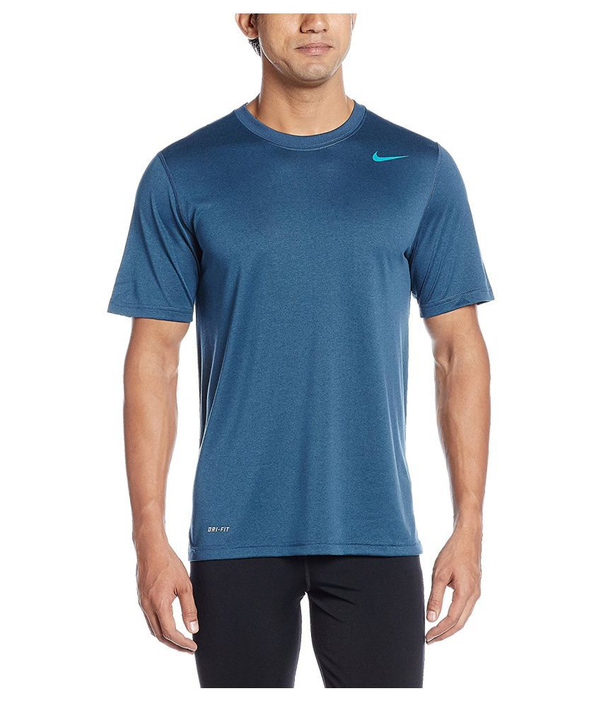 Nike Dri-Fit SS Round Neck Men's Top - Blue