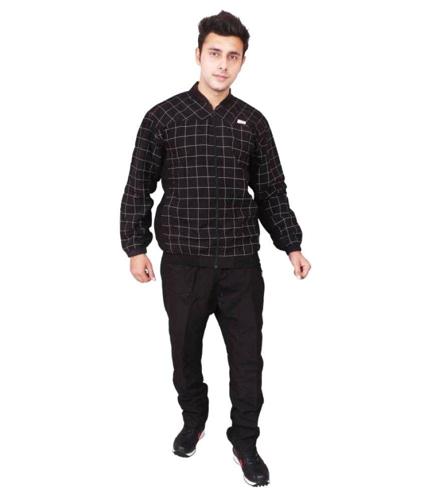 Vector X Black Men's Track Suit
