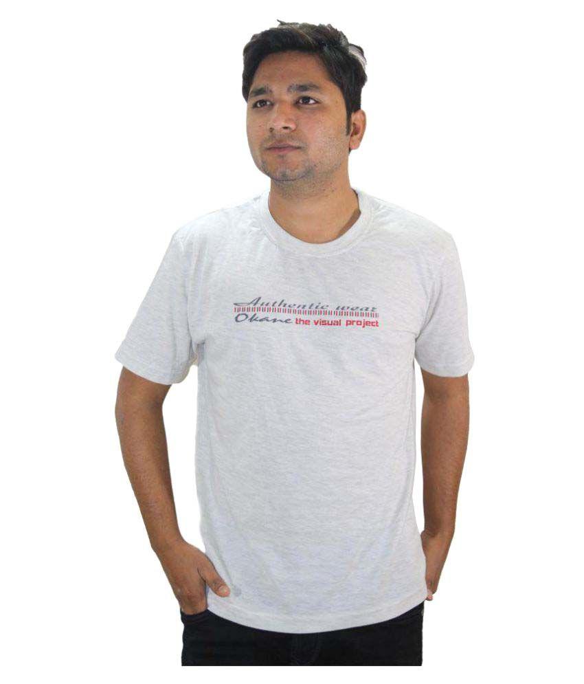 Ansari Clotho White Round T-Shirt