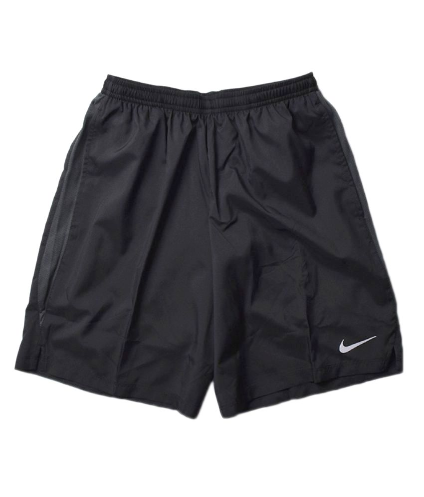 5129b5709d3d Nike Men s Solid Shorts - Black  Buy Online at Best Price on Snapdeal