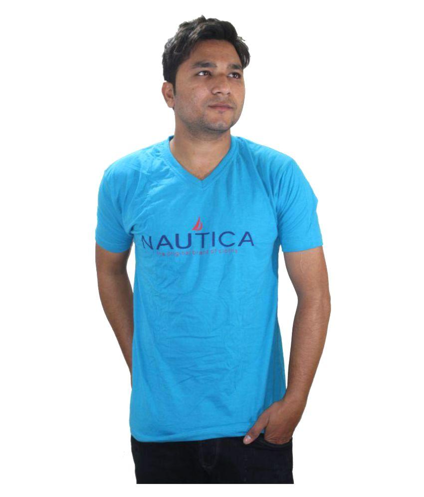 Ansari Clotho Blue V-Neck T-Shirt