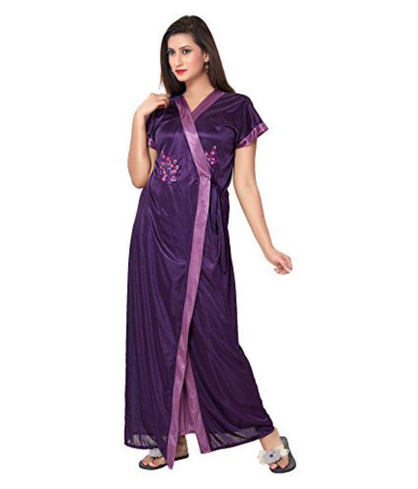 Buy Fashigo Womens 2 Piece Satin Nighty (Free Size) Online