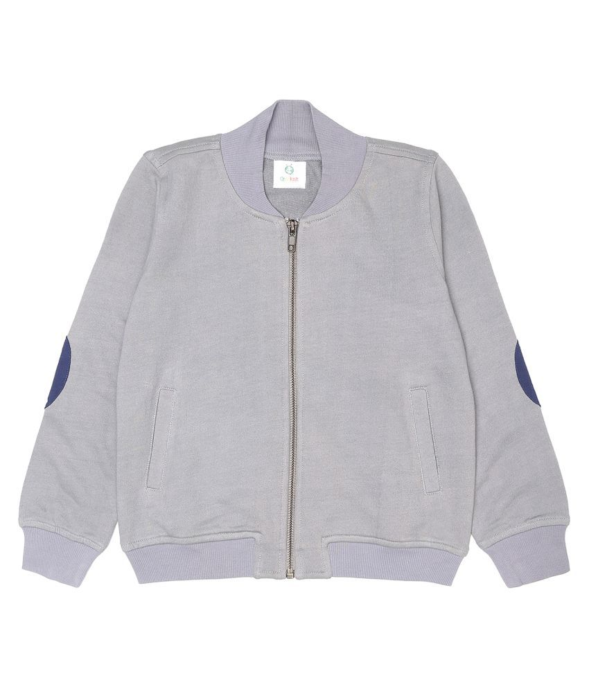 Orgaknit Grey Cotton Blend Jacket