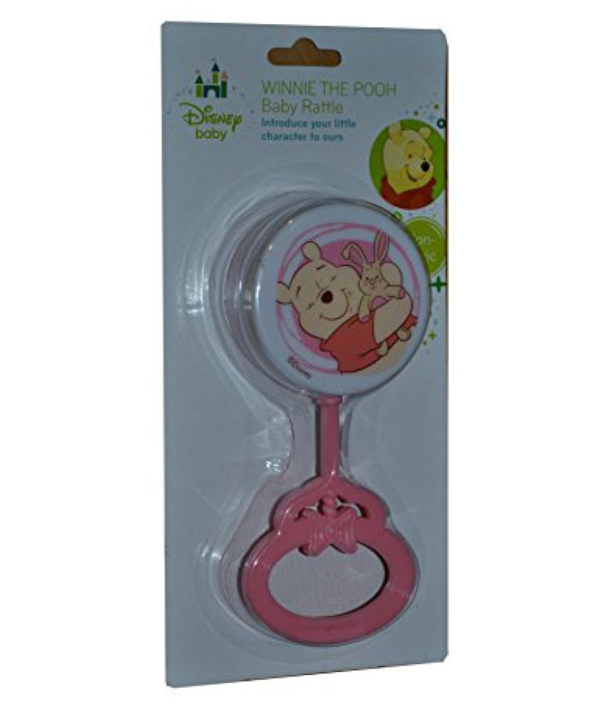Disney Winnie The Pooh Baby Rattle (Pink)