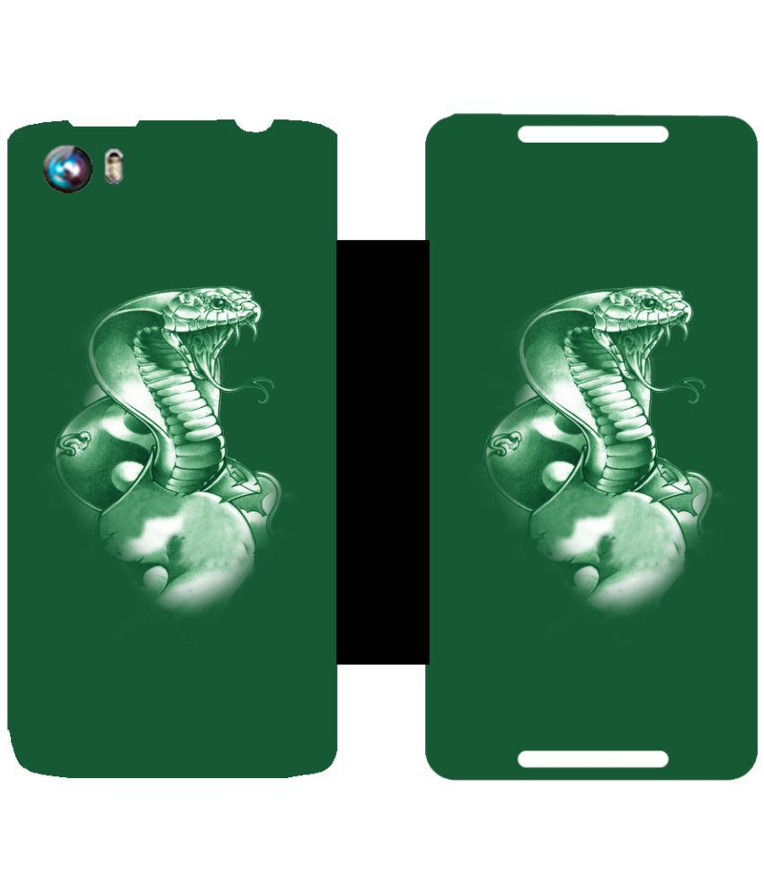 Micromax Canvas Fire 4 A107 Flip Cover by Skintice - Green