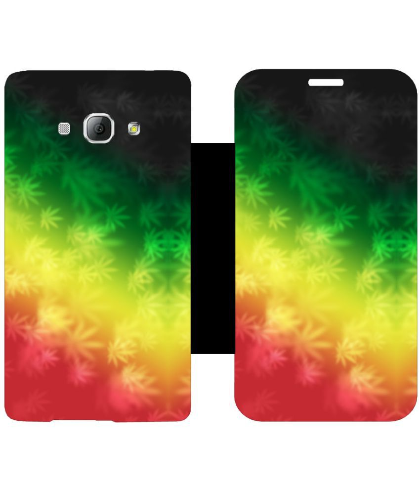 Samsung Galaxy A8 Flip Cover by Skintice - Multi