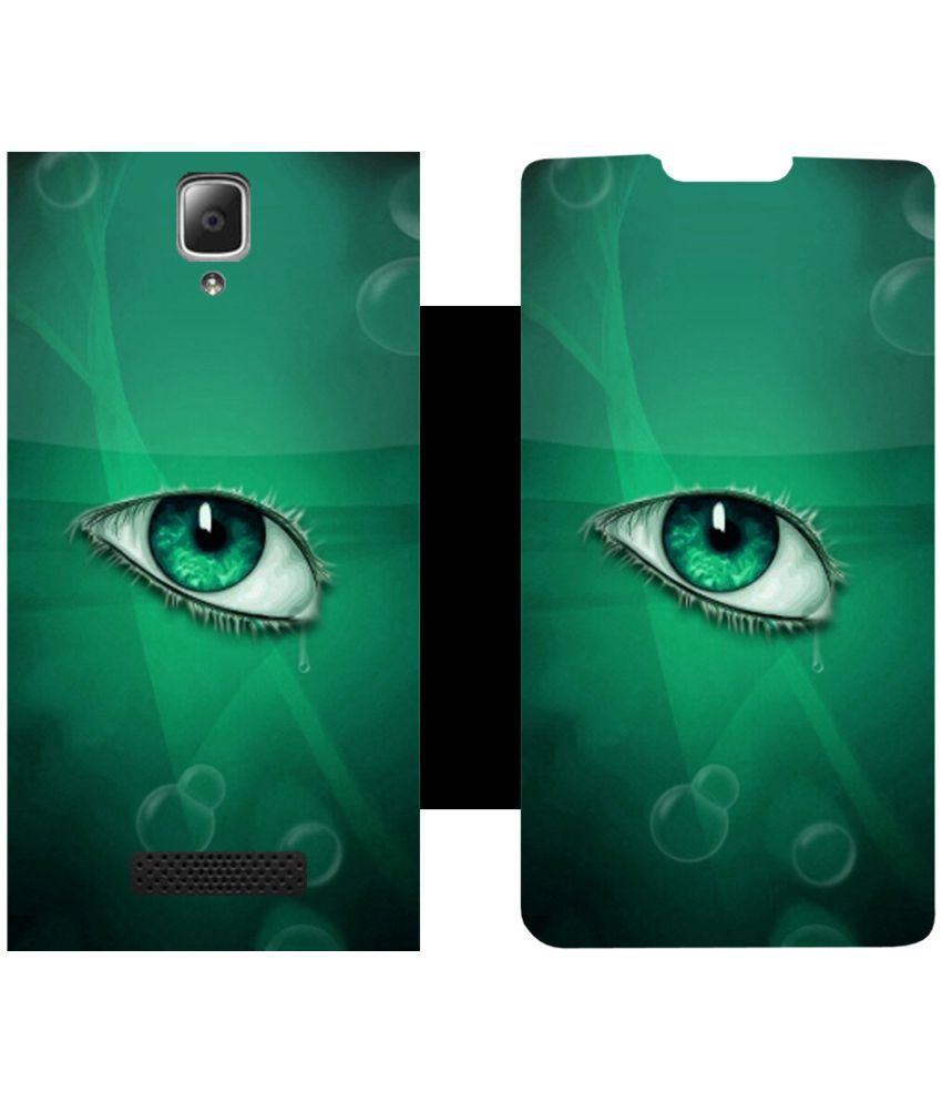 Lenovo A2010 Flip Cover by Skintice - Green