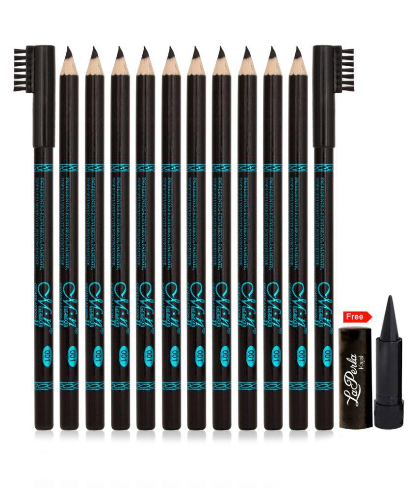 MN Perfect Waterproof & Longlasting Eye Brow Pencil Good Choice Kajal Black 12 gm
