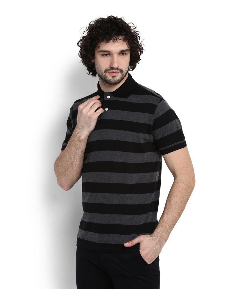 Allen Solly Black Polo T-Shirt